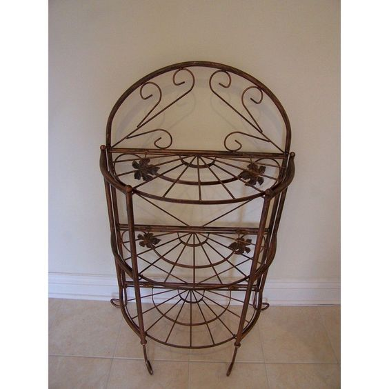 Oakland Semi-Circle 24 Plant Stand- Brown