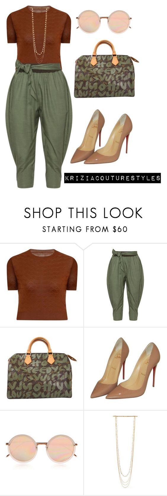"""""""Just Making A Run..."""" by kriziacouture ❤ liked on Polyvore featuring Elvi, Isolde Roth, Louis Vuitton, Christian Louboutin, Linda Farrow and Marc Jacobs"""