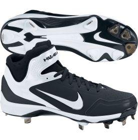 Nike Men\u0027s Air Huarache 2K Fresh Metal Baseball Cleat - Size 11.5 - Black/White  | Metal baseball cleats, Baseball cleats and Cleats