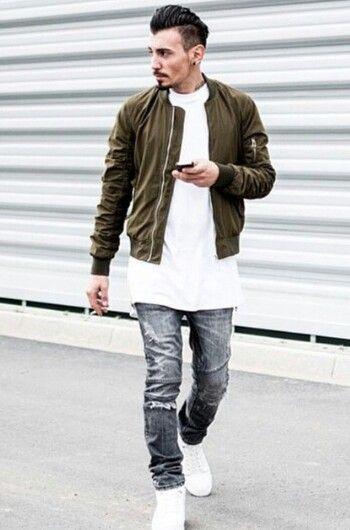 Outfits Con Jeans Grises Hombre