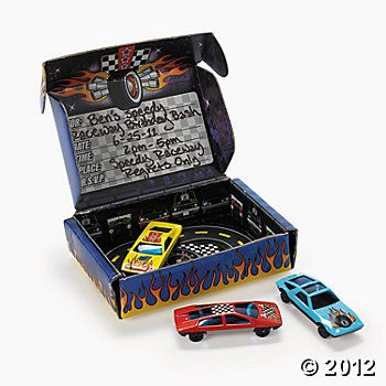 Race Car Invitations In A Box.  Great for a Disney Cars Party.