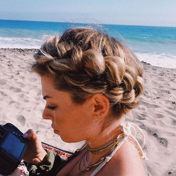 Milkmaid braid hairstyle