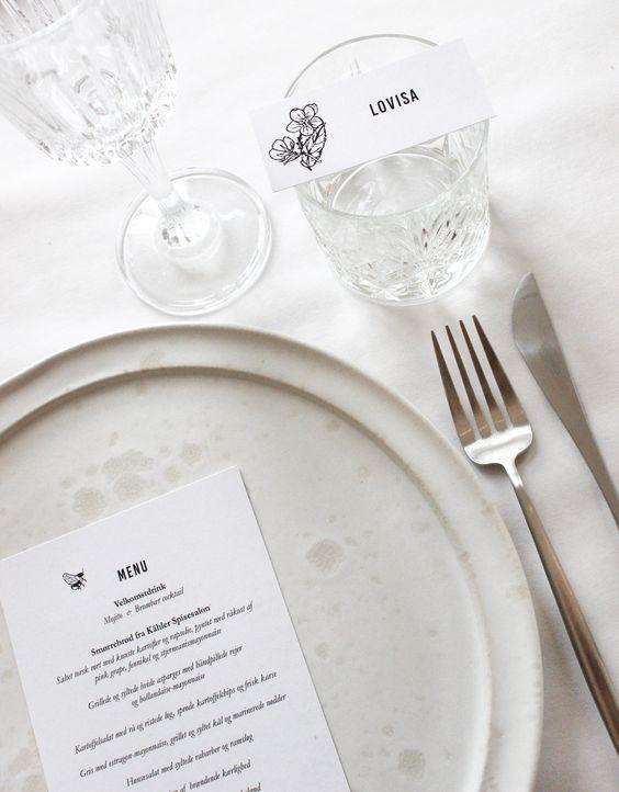 Table Setting, A Table Story, Naming Celebration, via scandinavianlovesong