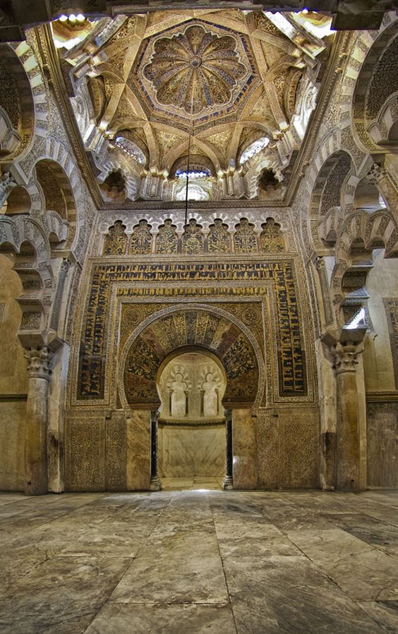 Cordoba spain and mosques on pinterest for Interior mezquita de cordoba