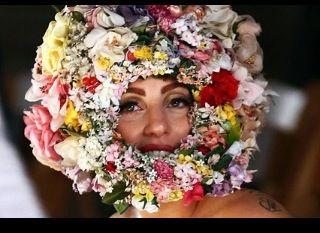 Lady Gaga in Philip Treacy, Vogue photo