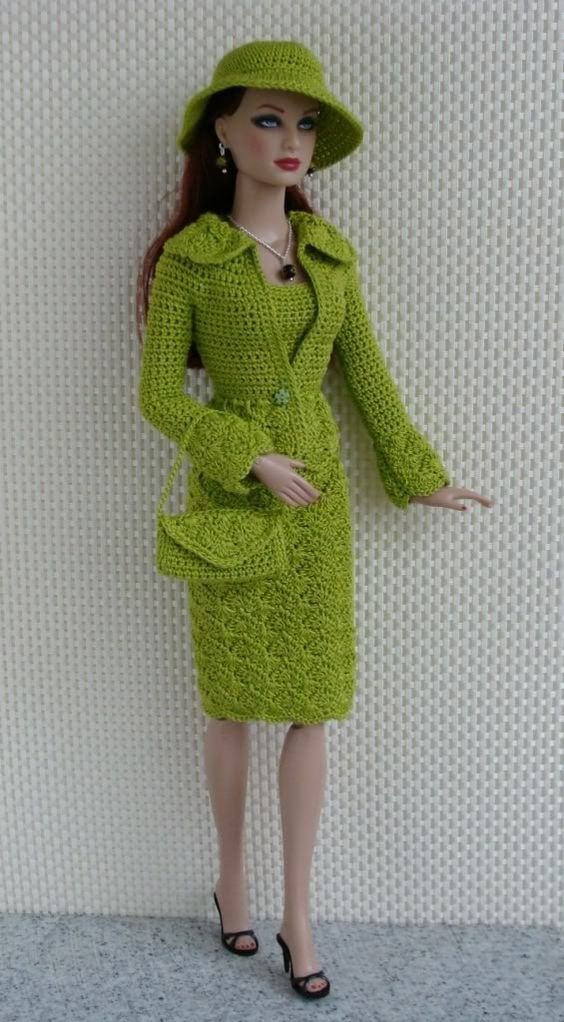 Knitting Clothes For Barbie Dolls : Green outfit photo g barbie doll clothes to sew