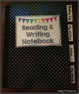 LOVE this notebook for reader's workshop. Instead of lesson notes, would have a section for sticky notes while reading.