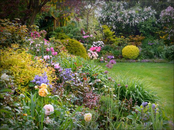bunter Frühlingsgarten - Bilder und Fotos