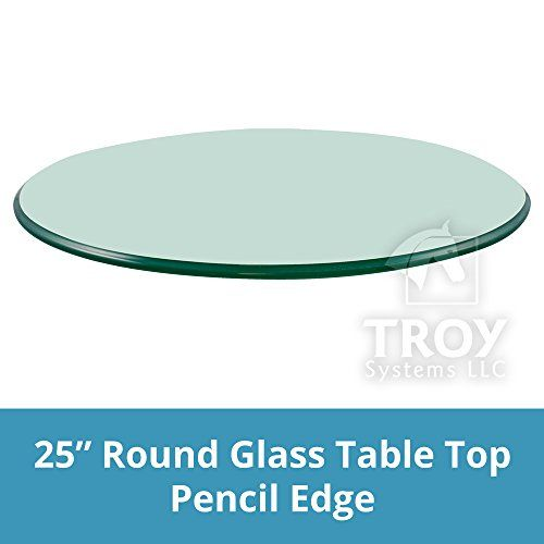 Round Glass Table Top 25 Inch Custom, 25 Inch Round Glass Table Top