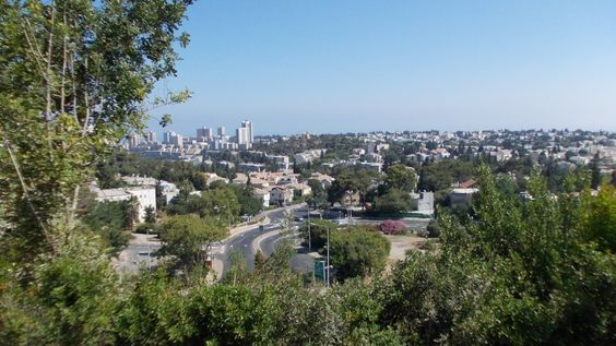 Looking from Ramat Alon over Neve Shanan and more . photo mirjam Bruck-Cohen