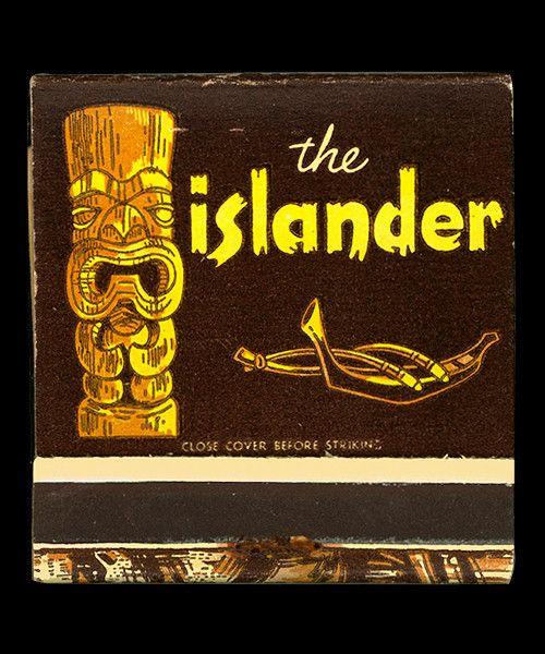 """ The Islander "" … Matchbook, 1960's, Los Angeles"
