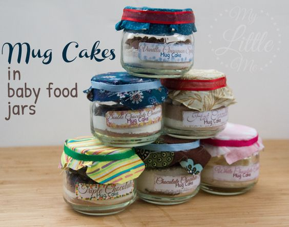 Baby Food Jar Mug Cake Recipes And Gift Basket Jars