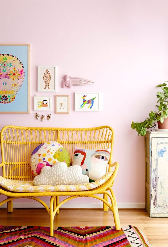 Are you tempted to brighten up your kids rooms with a splash of happy, sunny…: