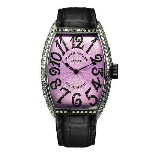 Franck Muller Black Magic WFM5850SCDWG mm Diamonds Automatic Stainless Steel Case Black Leather Women's Watch - http://www.rekomande.com/franck-muller-black-magic-wfm5850scdwg-mm-diamonds-automatic-stainless-steel-case-black-leather-womens-watch/