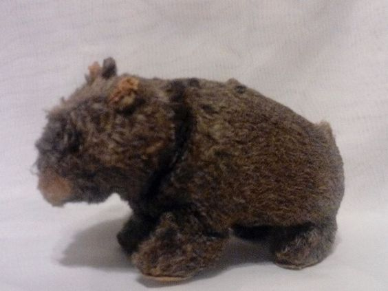 1950's Vintage Wind-Up Fabric Over Tin Toy Black Bear~Modern Toys