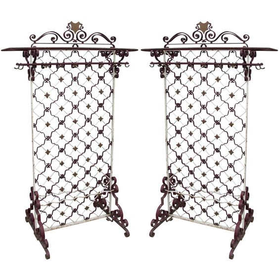 Two End of 19-Early 20th Century Oversize Coat Stands