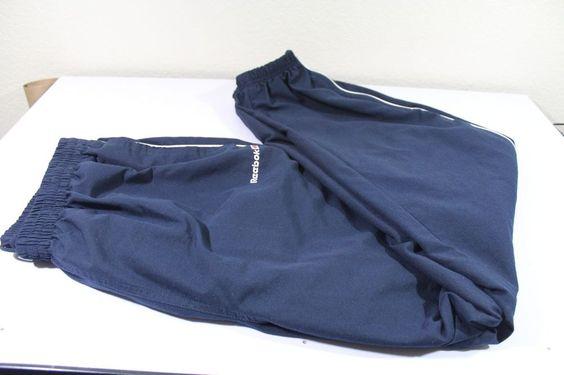 REEBOK men  pants (XL) blue 100% polyester pre-owned EUC #Reebok