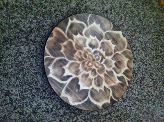 """Custom Wood Lazy Susan 16"""", Kitchen Decor, Wood Art, Unique gifts, One of a Kind, Wood Art, Rustic Home Decor by Masick360Creations on Etsy"""