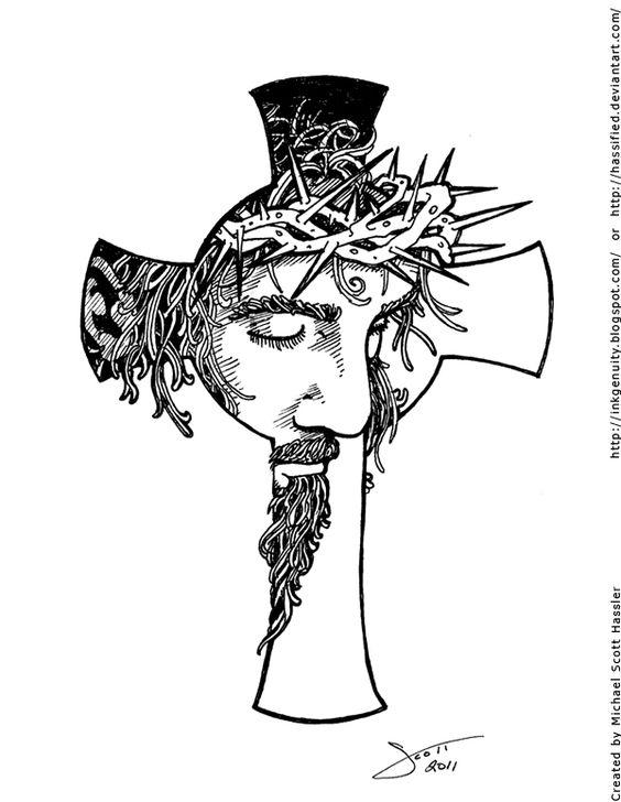 jesus cross by hassified on deviantart tats i love soon soon pinterest the o 39 jays. Black Bedroom Furniture Sets. Home Design Ideas