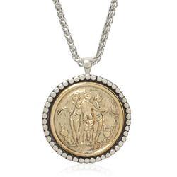 Ancient World Greek Pendant Necklace - #Sterling and Brass #greek #necklace #esbedesigns #esbetheda