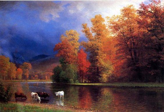 new to site Bierstadt Albert On the Saco