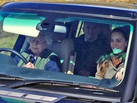 Queen Elizabeth and Duchess Catherine at Balmoral Estate
