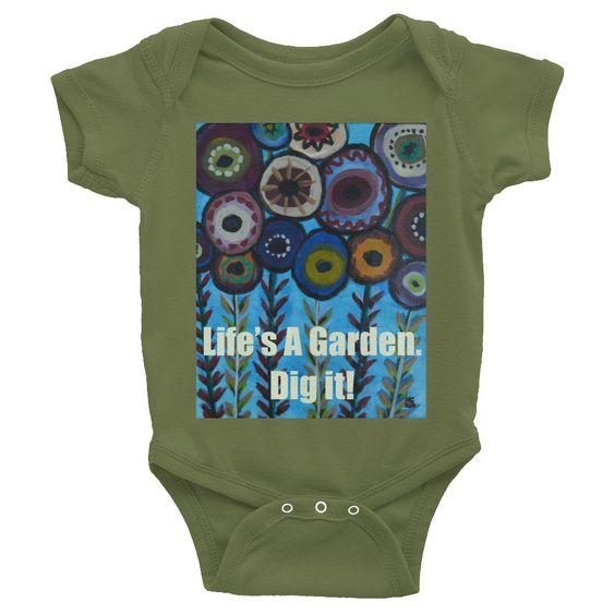 Happy Garden Infant short sleeve one-piece