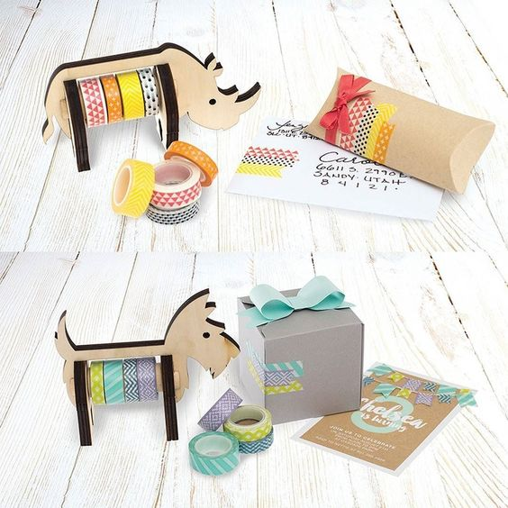 (CONTEST CLOSED)  Store Your Washi Tape in Style!  These adorable wooden washi dispensers make the perfect desktop accessory!  For a chance to take home one of these cuties simply: . 1) Like this post 2) Comment below with which animal you love the most! . Enter as many times as you want and spread the crafting love by tagging your friends and reposting this! We'll announce a winner on Friday! . #giveaway #animalwashidispenser #washitape #crafteorganization by wermemorykeepers