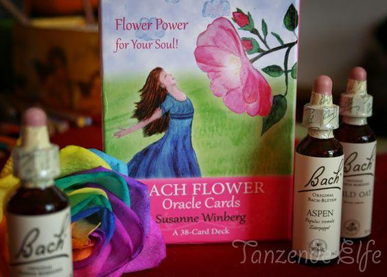 Bachblüten oracle set and rainbow rose