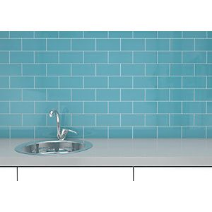Duck Egg Blue Bathroom Wall Tiles Gloss Duck Egg Metro