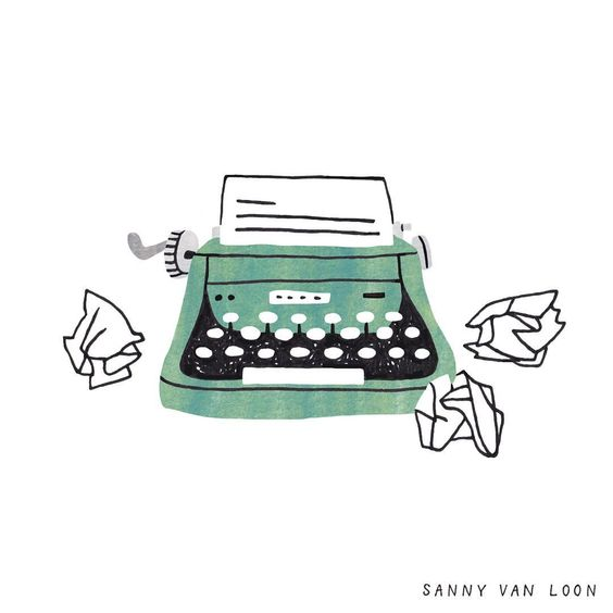 "Sanny van Loon on Instagram: ""Illustration made for the book 'Creative Flow', written by @jocelyndekwant ⠀ #typewriter #writing #vintagetypewriter #retro…"""