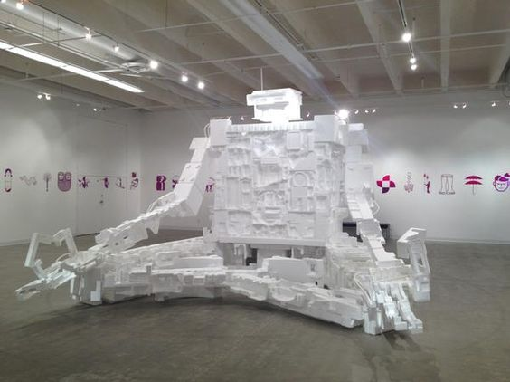 Michael Salter's giant styrofoam robot takes over CU's Galleries of Contemporary Art; Clyfford Still Museum launches new colorful works exhibit