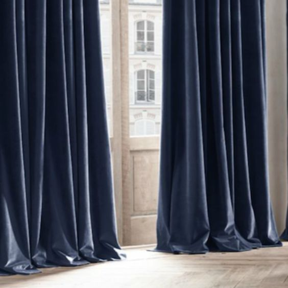 Blue Velvet Curtains | Flats, Products and Labor