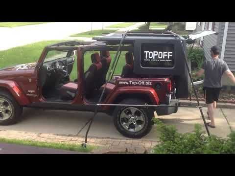 The Only Portable 1 Person Jeep Hardtop Removal Storage And