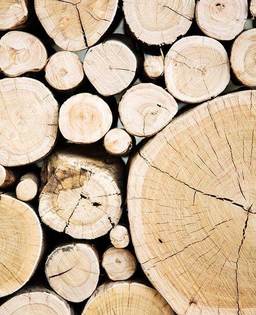 Wood Pile Wall.