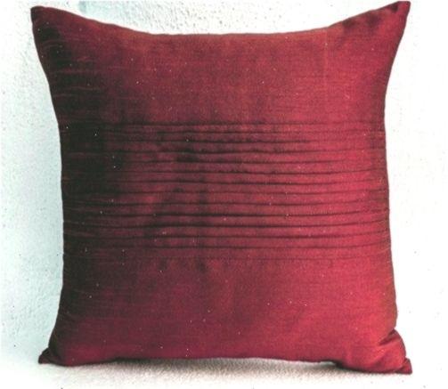 Throw Pillows In Deep Red Art Silk