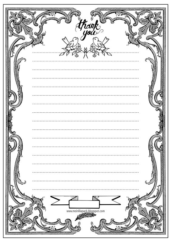 free printable coloring thankyou writing paper free printables and more pinterest coloring. Black Bedroom Furniture Sets. Home Design Ideas