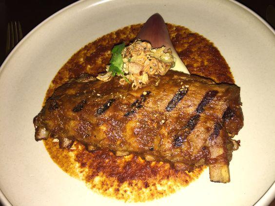 Pork ribs at bambu restaurant at seminyak.