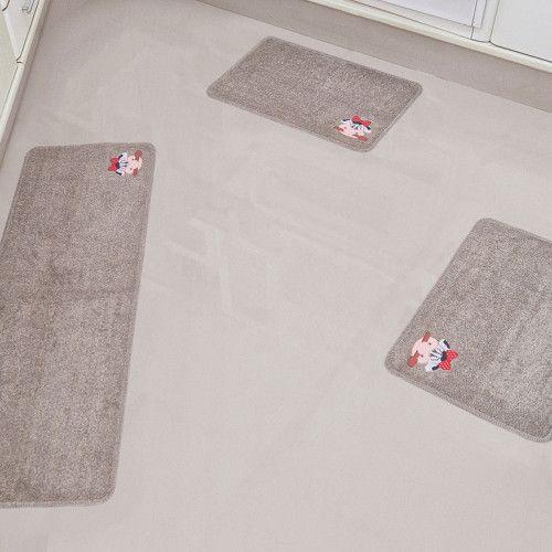 Jogo De Tapetes Para Cozinha Cotton Aplique Antiderrapante 3 Pecas Areia Tapetes Lisos Tapetes Decorativos Tapete Algodao