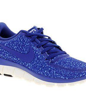 nike free running 5.0 v4 blue trainers