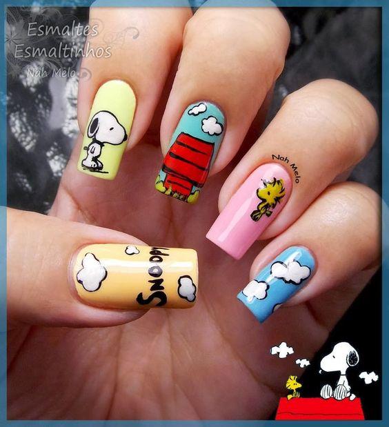 Esmaltes-Esmaltinhos: Snoopy #nail #nails #nailart: