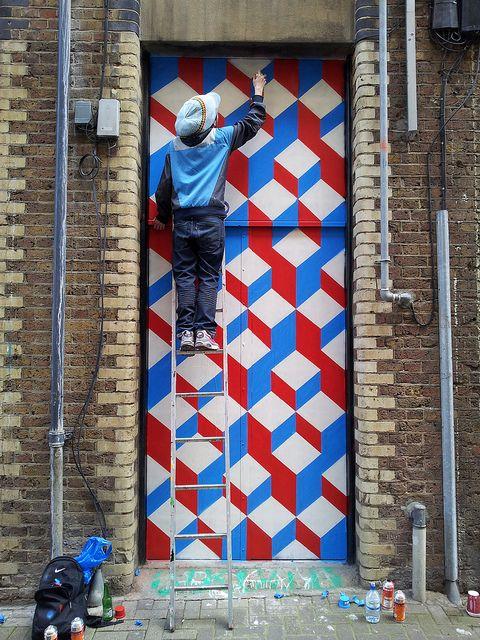 Artist: Wall Patterns, Artist Pattern, Shoreditch Pattern, Pattern Design, Wall Murals, Streetart