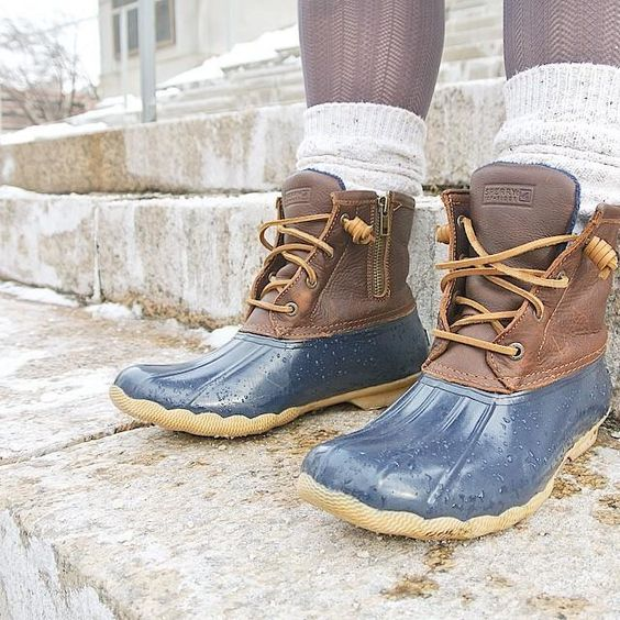 Women S Saltwater Duck Boot My Heart Sperry Boots And Sock