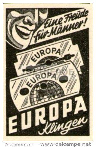 Original-Werbung/Inserat/ Anzeige 1948 - EUROPA KLINGEN / RASIERKLINGEN - ca. 65 X 50 mm