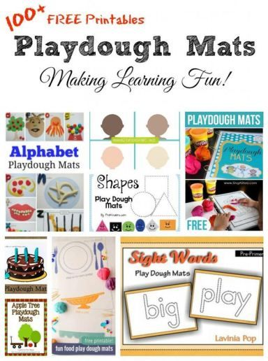 100+ Free Play Dough craft Mats - hands on art project