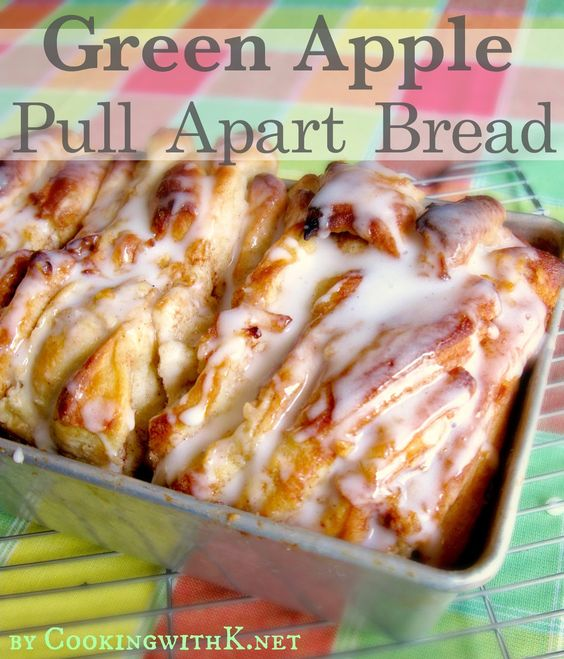 Cooking with K   Southern Kitchen Happenings: Green Apple Pull Apart Bread {Using Rhodes Frozen Bread}