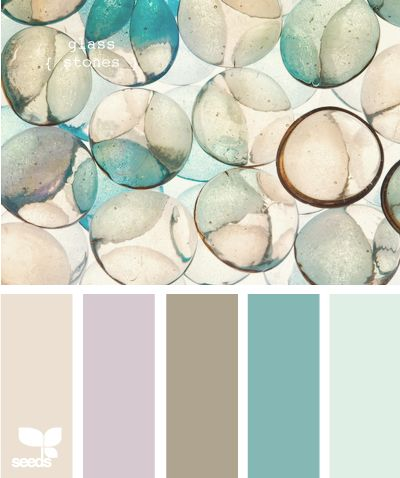 Sea glass colors - want to paint my living room walls the last two on the right (have been threatening that for the last two years.... Just Do It!!)