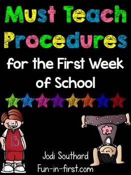 This list is a wonderful resource for reminding teachers of all the procedures that need to be taught to students at the beginning of the school year.  I also added a checklist for you to check off the procedures as you teach them.