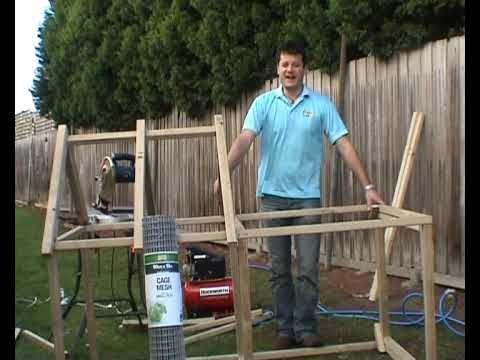 Clapier à lapin en bois d'extérieur à monter soi-même