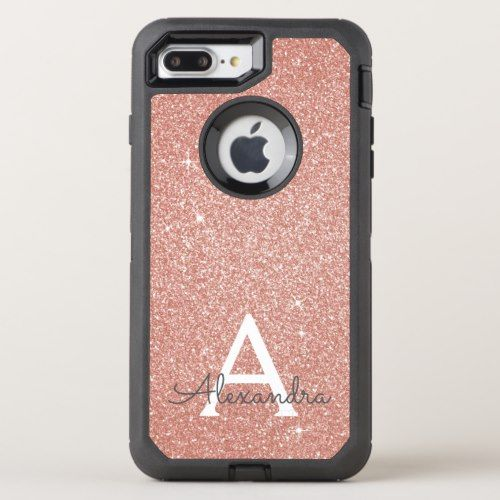 Pink Rose Gold Glitter And Sparkle Monogram Otterbox Iphone Case Zazzle Com Iphone Cases Otterbox Vintage Phone Case Otterbox Iphone